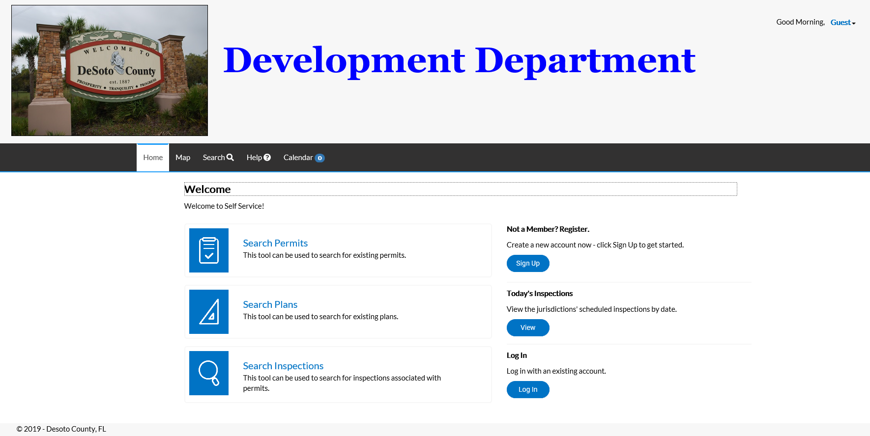 Development Department website