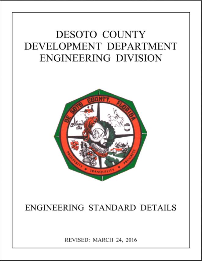 DeSoto County Engineering Standard Detail Link