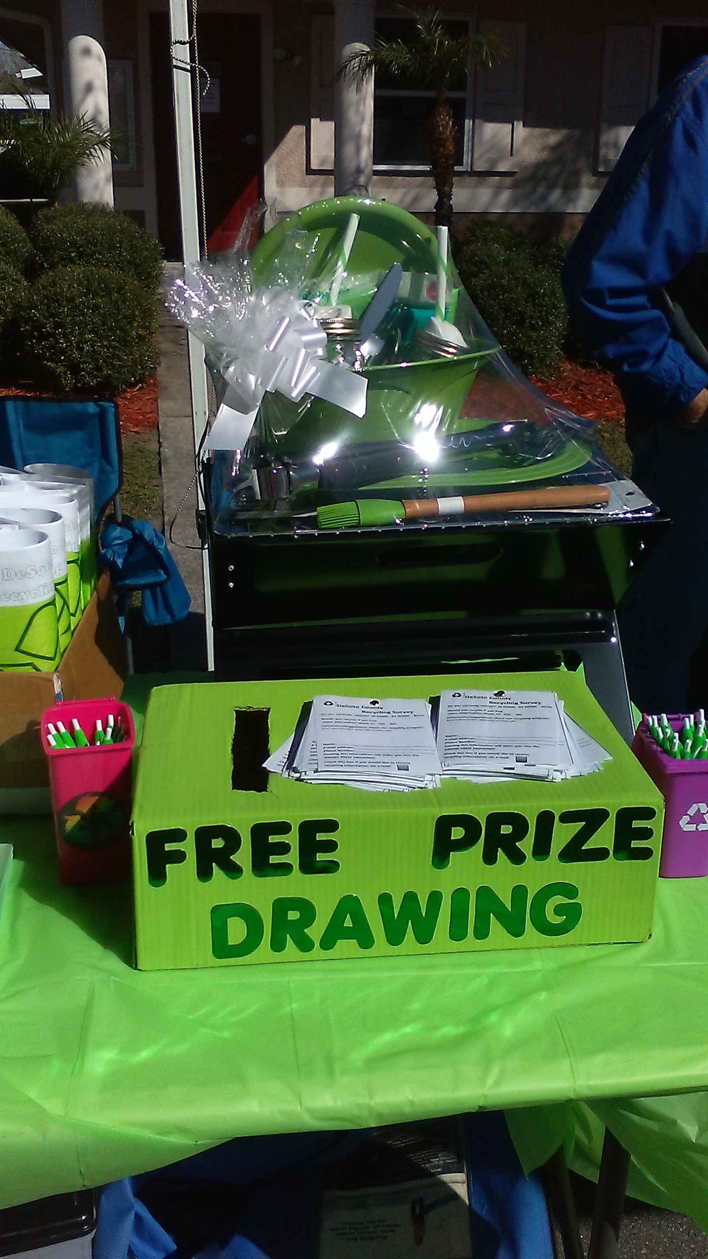 Recycle Prize Drawing Box