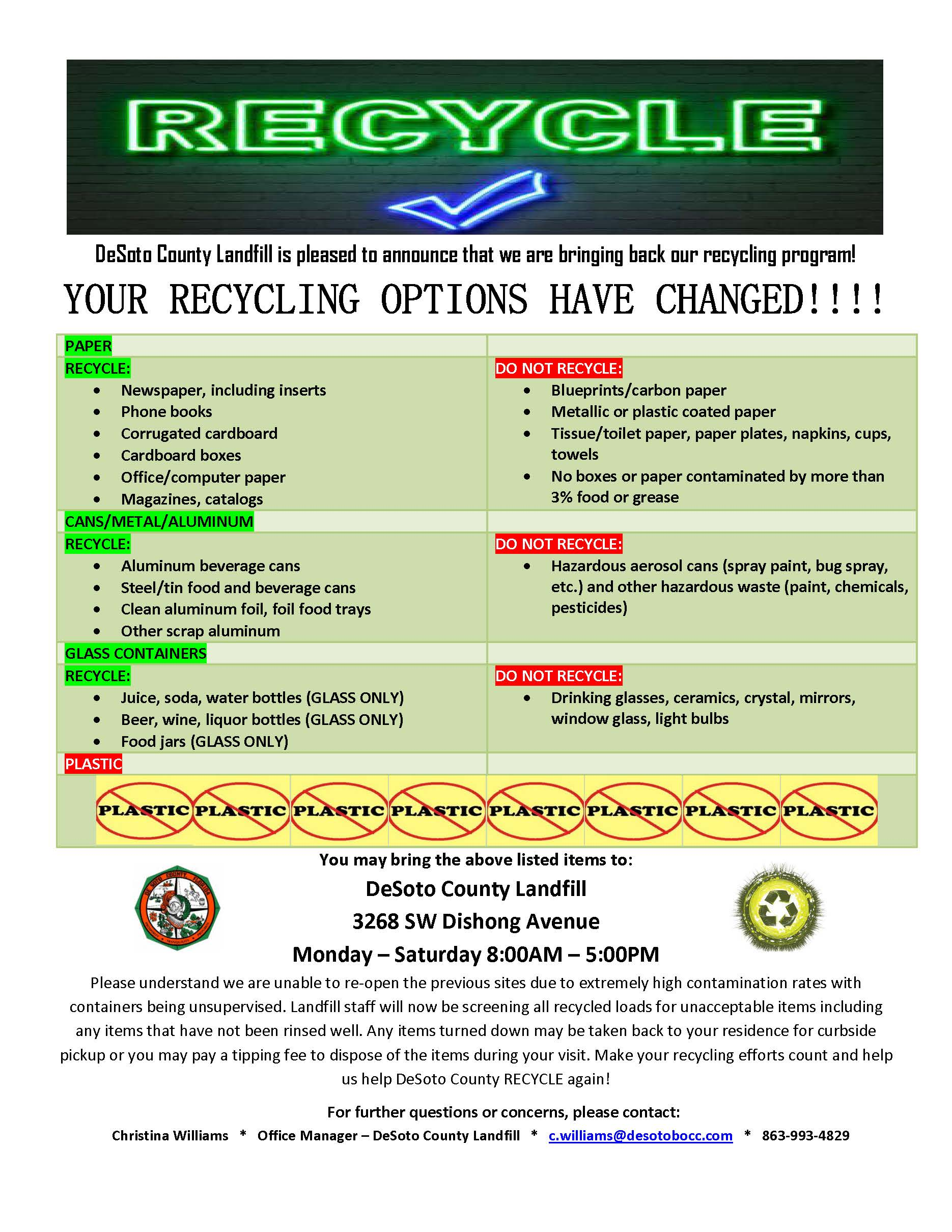 Recycling Program Changes