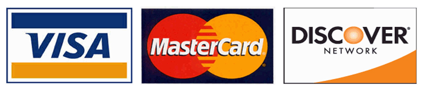 Visa, Master, and Discover Cards