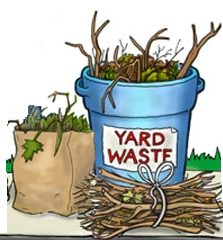 Image result for YARD WASTE IN CANS