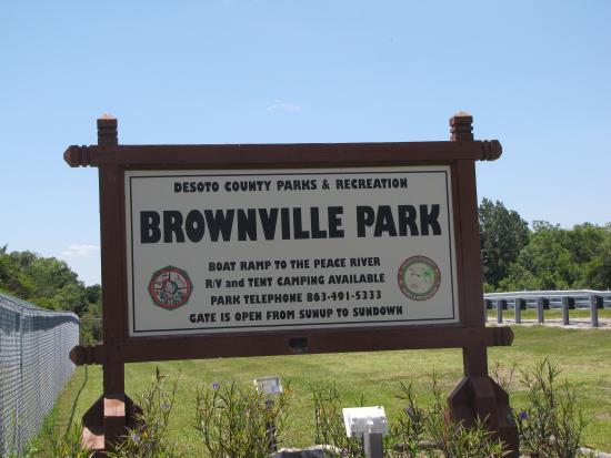 Brownville Park Sign