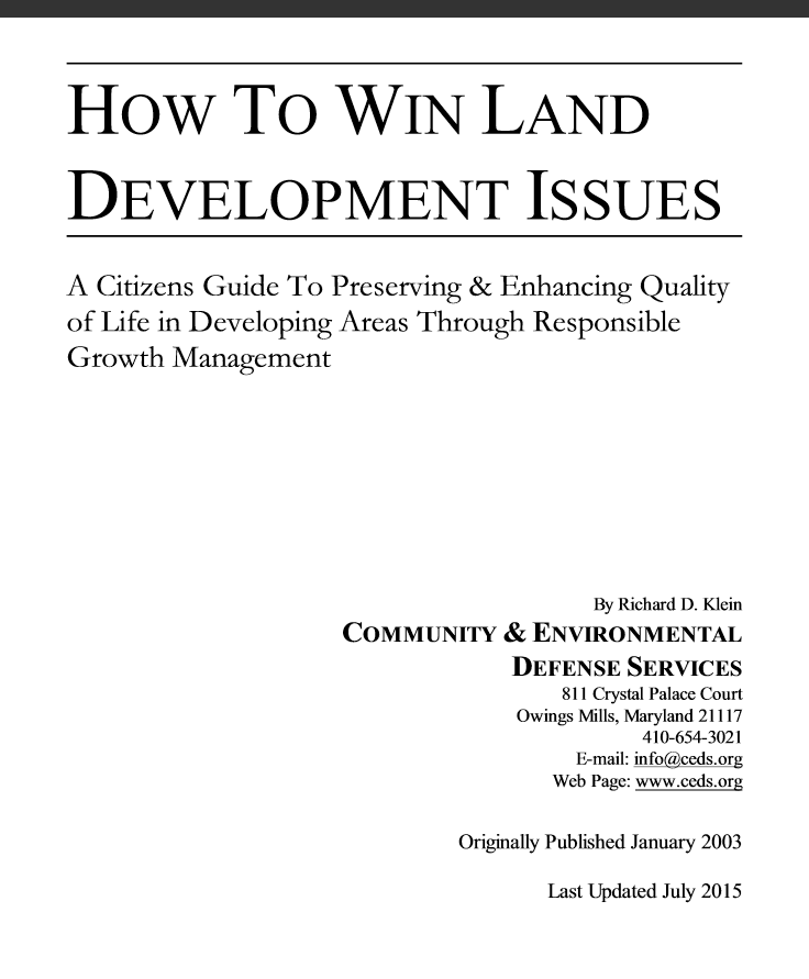 How To Win Land Development Issues Link