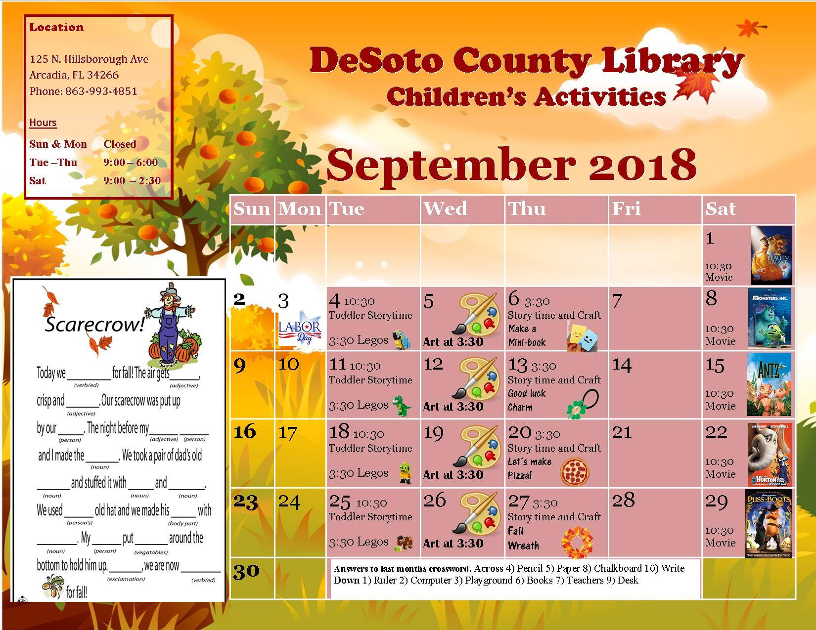 Desoto County Bocc Department Public Library September 2018