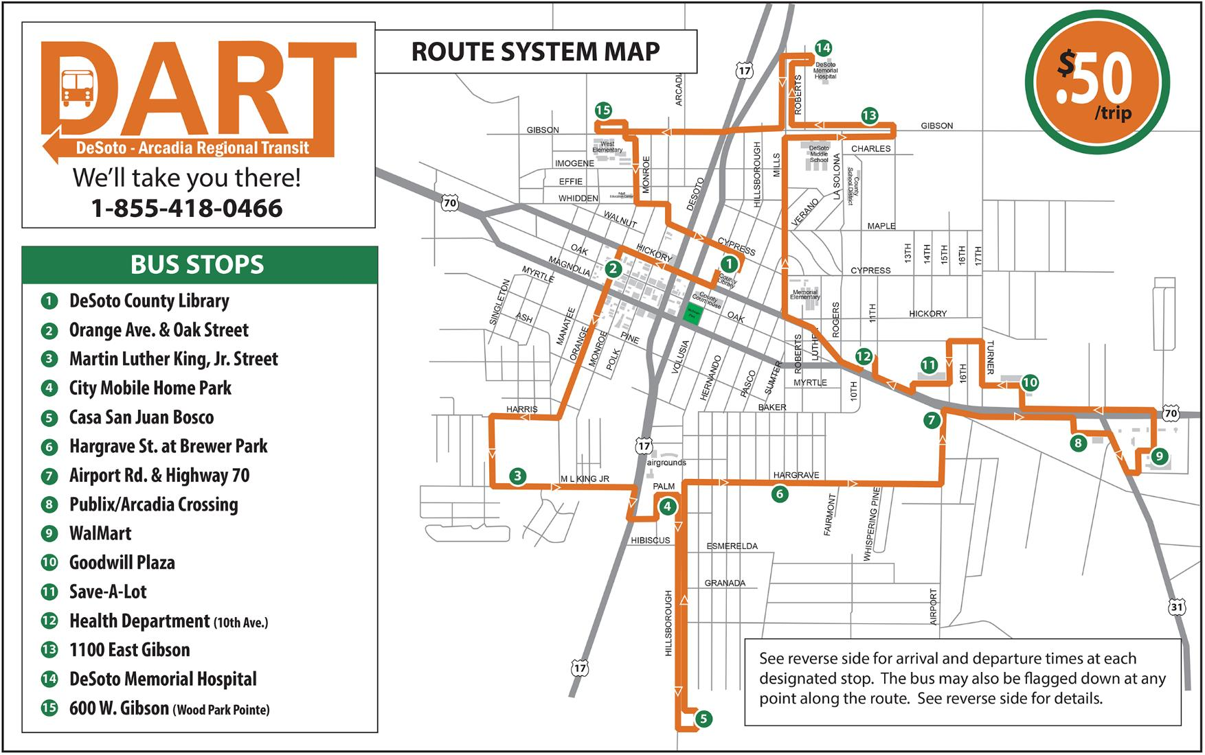 DART Route System Map