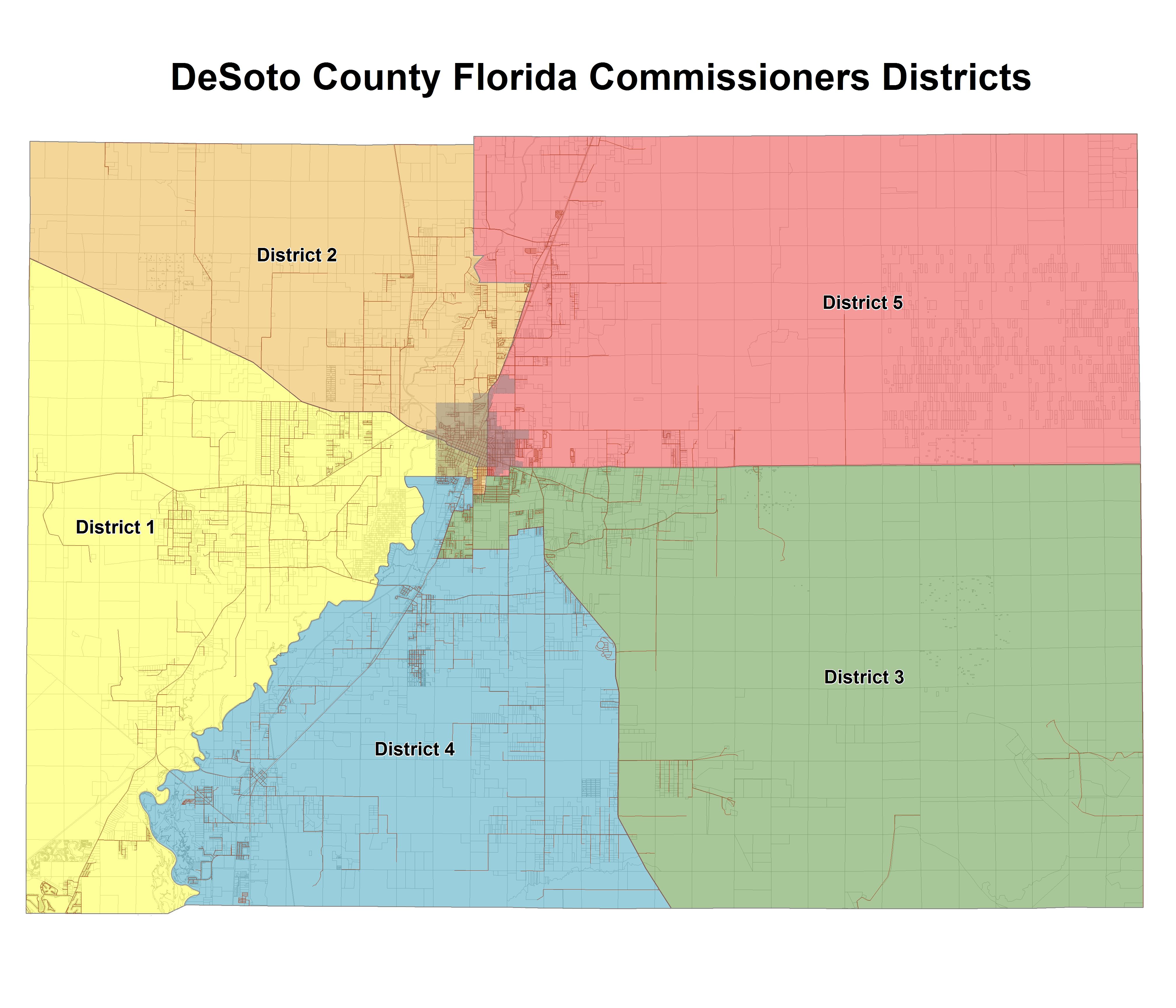 Map Of Arcadia Florida.Board Of County Commissioners Bocc Desoto County Florida Meet The