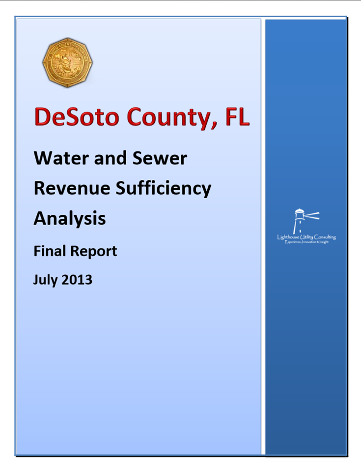 Water and Sewer Revenue Sufficiency Anlaysis Reports as of July 2013